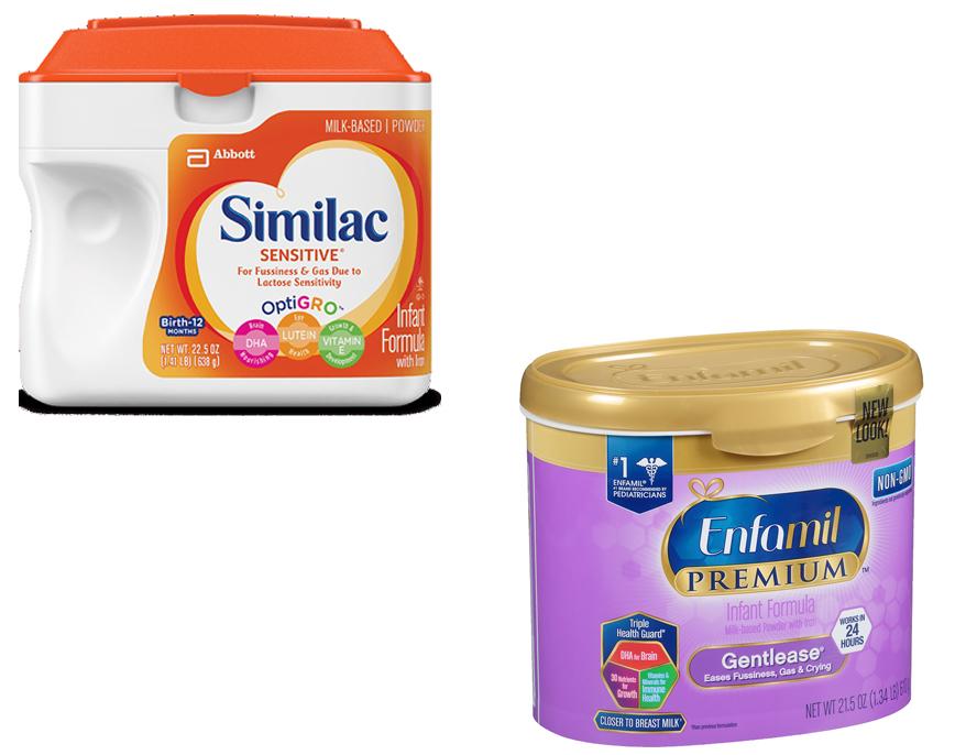 Similac Sensitive Ingredients Label - Ythoreccio